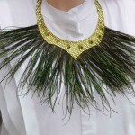 Statement Kette mit Pfauengras – statement necklace with peacock grass