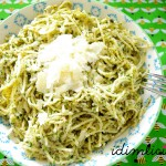 Haselnuss Pesto an Spaghetti – hazelnut pesto with spaghetti