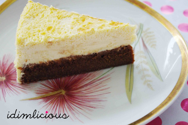 Brown and White Cheese Cake