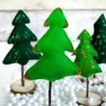 Weihnachtsbäumchen selbstgemacht – make your own little Christmas trees