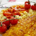 Fisch in Knusperkruste mit Paprikacouscous - fish in crusty coating with paprika couscous