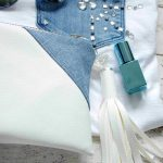 Shirt mit Jeanstasche und Glitzersteine - shirt with a jeans pocket and glitter beads
