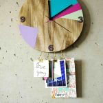 Wanduhr DIY mit Haken und Farbe - wall clock DIY with hooks and color