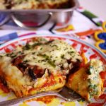Gefüllte Cannelloni mit Ricotta, Spinat, Pilzen und Tomaten - filled Cannelloni with ricotta, spinach, mushrooms and tomatoes