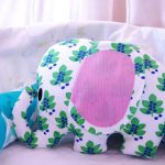Kuschelelefant aus Stoffresten fürs Baby - plush elephant made of fabric scraps for the baby