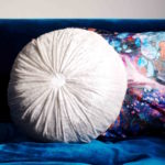 Rundes Kissen mit Raffung selbstnähen - how to sew a round pillow with gathering