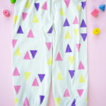 Wie man farbenfrohe Babyhöschen aus langweiligem beigen Jersey fertigt - how to make  colourful baby pants from boring beige jersey
