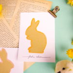 Upcycling Osterkarten aus einem Umschlag und mit viel Glitzer - upcycling Easter cards from an envelope and with a lot of glitter